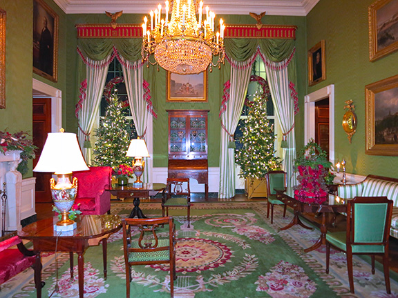 the white house at christmas: every kind of food and decoration